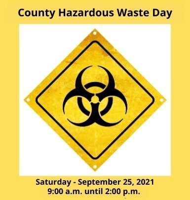 Hazardous Waste Day - September 25, 2021